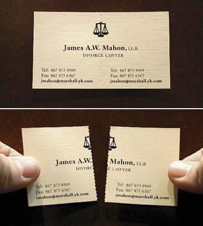Бракоразводен адвокат - визитка