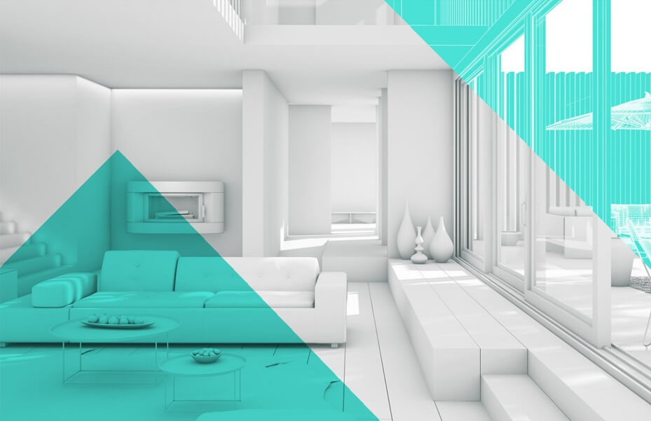 Геометричен интериорен дизайн